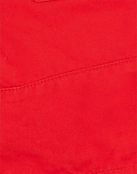 Red Bermuda shorts in cotton dobby ZAFLAGE / 21E3PGI1BER502