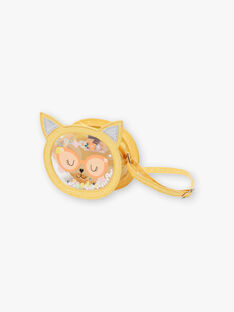 Yellow shoulder bag cat head animation ZITRONETTE / 21E4PFO1BESB104