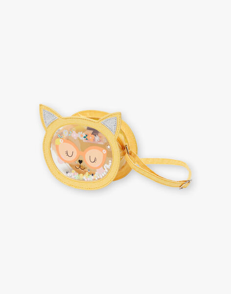 Yellow shoulder bag cat head animation ZITRONETTE / 21E4PFO1BESB104