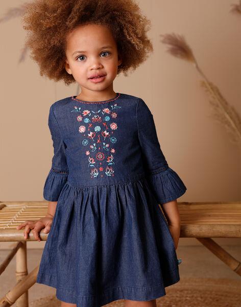Blue denim dress and bag set ZETOUNETTE / 21E2PFI1ROBK005