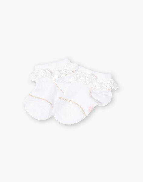 Baby girl low socks ecru TYGLADYS / 20E4BFZ1SOB001