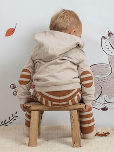 Baby Boy Grey Hoodie in Teddy Bear Print BALEO / 21H1BGJ1JGH811