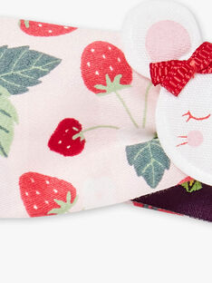 Strawberry printed headband mouse badge ZAAGATHE / 21E4BFJ1BAN301