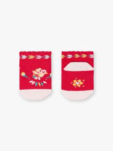 Baby Girl's Raspberry and Light Pink Low Socks TASUCRE / 20E4BFQ1SOBF510