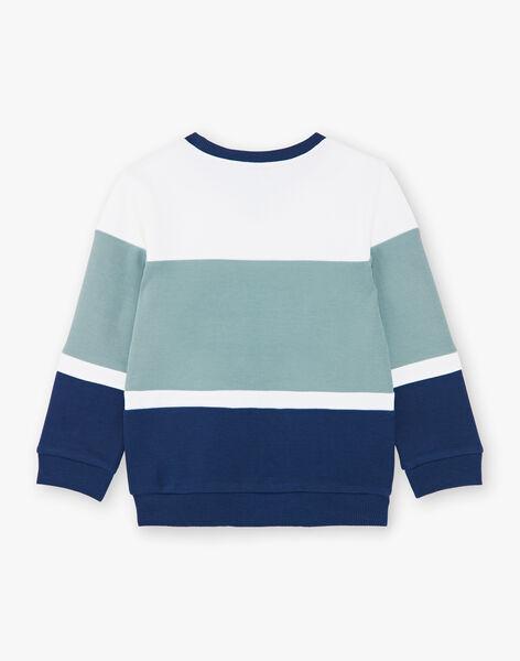 White and blue striped cotton sweatshirt ZAGRELAGE / 21E3PGI2SWE705