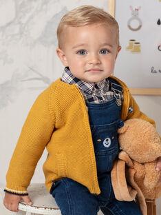 Baby Boy Mustard Yellow Vest BAFAUST / 21H1BG51GILB114