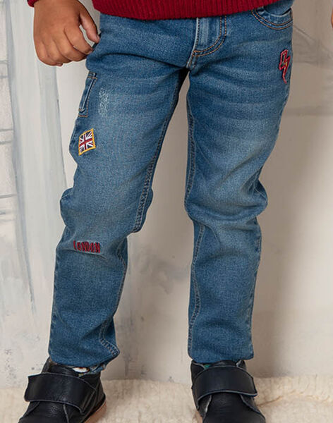 Boy's red and blue jeans BEFAGE / 21H3PG51JEAP269