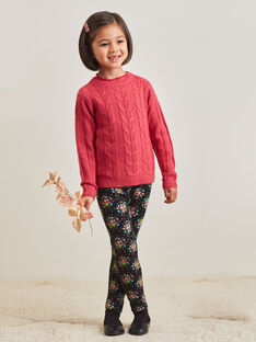 Girl's long sleeve pink knit sweater BRIPUETTE / 21H2PFM1PUL308