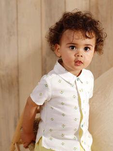 Ecru baby boy shirt ZAMARCEL / 21E1BGO1CHM001