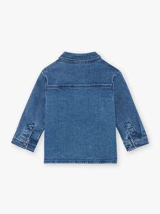 Baby boy blue denim shirt BAJOSUE / 21H1BG91CHMP269
