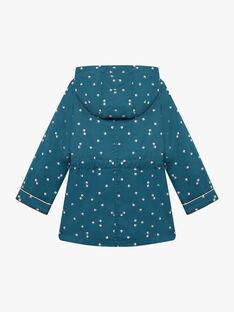 Child girl duck blue lotus print raincoat BLOTETTE / 21H2PFC1IMP714