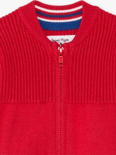 Baby Boy Red Long Sleeve Knitted Vest BABERNIE / 21H1BG11GIL050