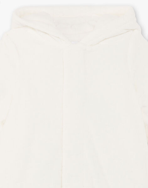 Hooded pilot suit in ecru for mixed birth BOYAEL / 21H0CM41PIL001