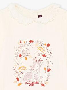 Baby girl lace collar t-shirt BAILIA / 21H1BFJ1BRA001