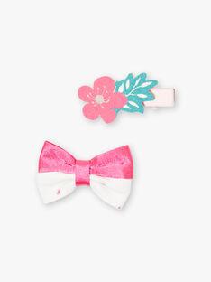 Clear pink HAIR CLIP ZOUMETTE / 21E4PFZCBRT321