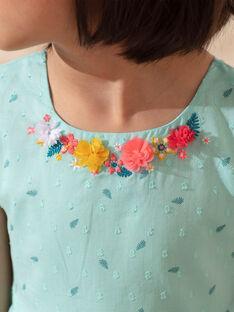 Girl's palm tree print sky dress TEUZIETTE / 20E2PFX1CHSC242