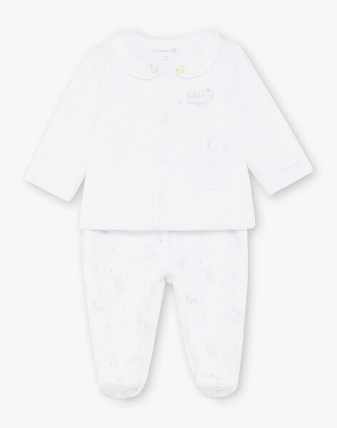Set white velvet baby velvet vest and pants mixed ZOEDEN / 21E0NMG1ENS000
