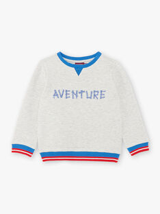 Sweat ecru mottled adventure embroidery ZADROILAGE / 21E3PGJ1SWEA011