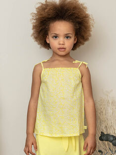 Yellow tank top child girl ZLYNETTE3 / 21E2PFL3DEBB104