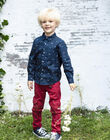 Boy's red multi-pocket pants with belt BADAGE / 21H3PG11PAN050