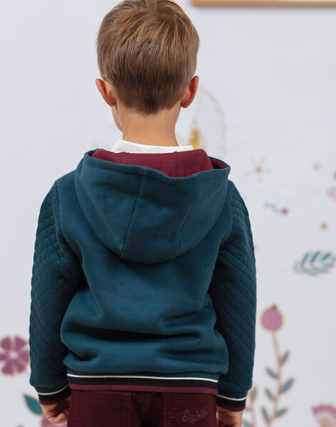 Boy's red and duck blue hoodie BEMAGE / 21H3PG91SWE608