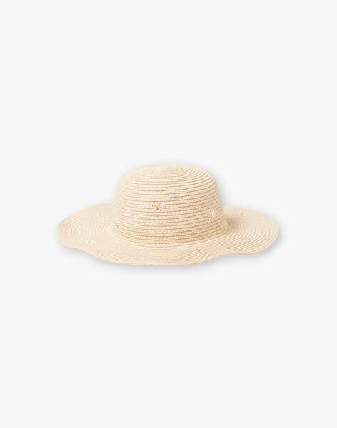 Girl's beige straw hat TAYELIETTE / 20E4PFZ1CHA001