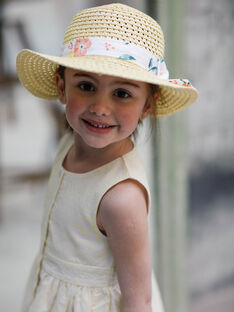 Beige hat child girl ZICHUETTE / 21E4PFO1CHAB104