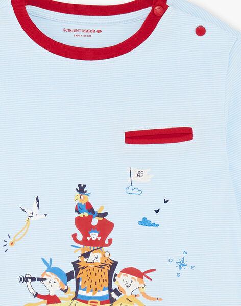 Red and blue pajamas for boys ZECOURAGE / 21E5PG14PYJC218