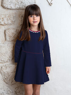 Navy blue dress child girl ZLOMETTE1 / 21E2PFK3ROBC214