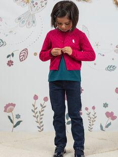 Girl's floral print jeans BOJANETTE / 21H2PF91JEAP271