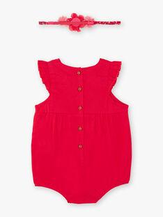 Baby Girl's Raspberry Headband and Romper TASONIA / 20E1BFQ1BARF510