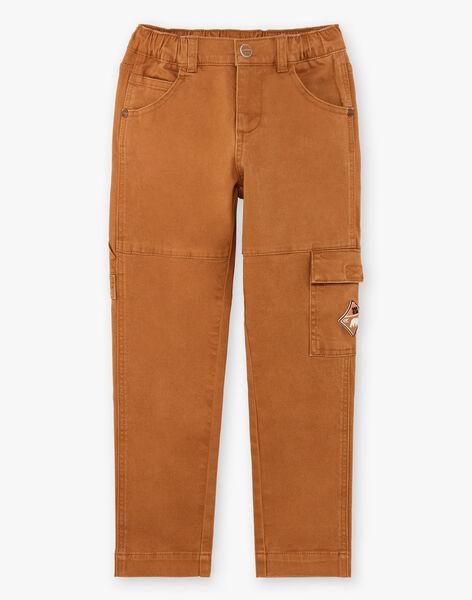 Boy's camel cargo pants BIBIFAGE / 21H3PGJ1PAN804
