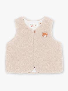 Baby boy ecru sleeveless vest BALEOPOLD / 21H1BGJ1CSM811