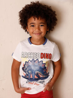 T-shirt short sleeves ecru child ZESOUAGE / 21E3PGB1TMC001