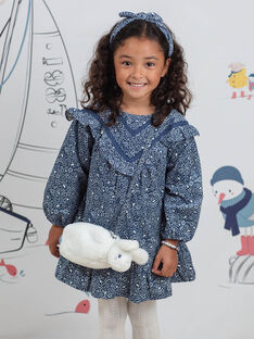 Girl's rabbit shoulder bag in fake fur BYPAGETTE / 21H4PFL1BES001