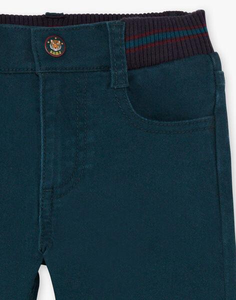 Boy's emerald green pants BETROFAGE / 21H3PG93PAN608