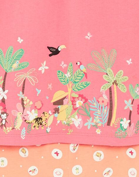 Nightdress and leggings coral and orange coral leggings child girl ZEDORETTE / 21E5PF11CHN419