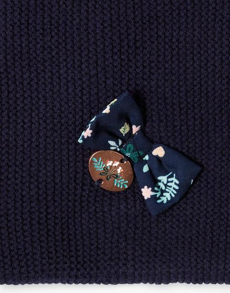 Navy blue knitted snood ZOURAVETTE / 21E4PFM1SNO070
