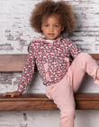 Pink and red hoodie child girl BROCHETTE / 21H2PF32JGHD314