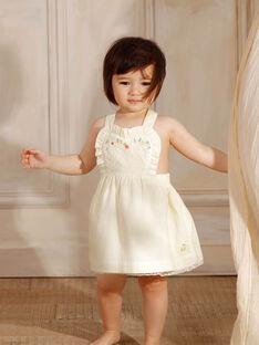 Lemon yellow chasuble dress baby girl ZANAELLE