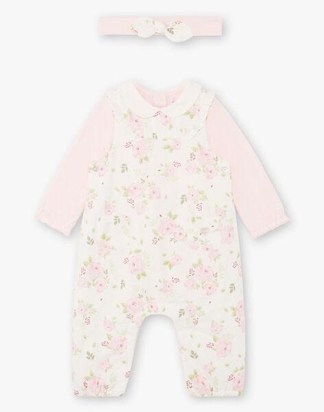 Baby girl bodysuit, jumpsuit and headband set BOYE / 21H0CF41ENS301