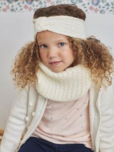 Girl's ecru knitted snood BLOZINETTE / 21H4PFE1SNO001