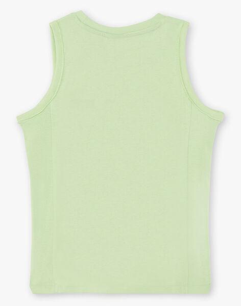 Boy's green and blue tank top TUNALAGE / 20E3PGX1DEBG628