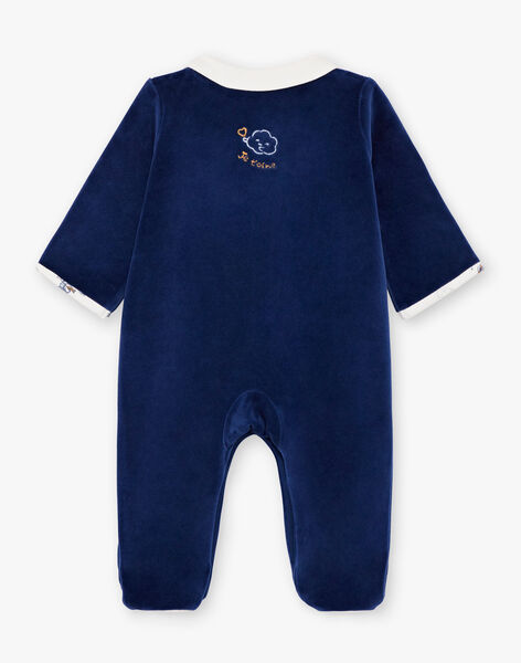 Navy and white baby boy sleep suit and hat BOSCO B / 21H0NG42GRE070