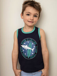 English blue tank top for boys ZUXIAGE2 / 21E3PGL1DEB702