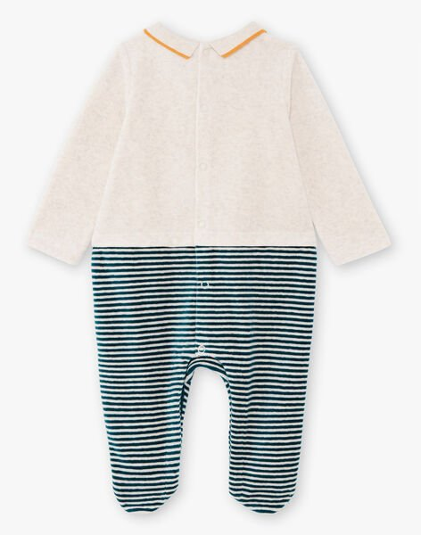 Baby boy's long sleeve striped sleep suit with fantasy pattern BEARTHUR / 21H5BG62GRE943