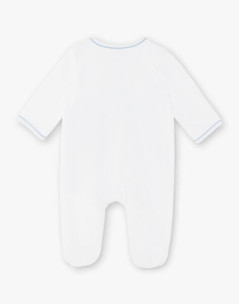 White and blue romper baby boy ZOBER_B / 21E0NGG2GRE000
