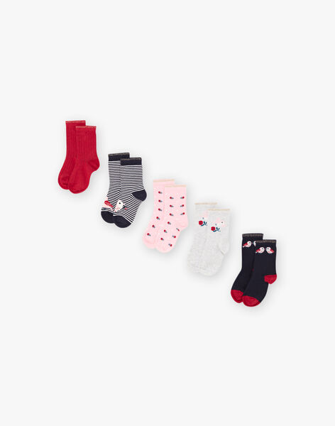Set of 5 pairs of assorted socks child girl BROPAETTE / 21H4PFB1LC5719