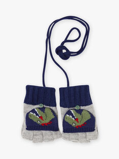 Baby boy's navy and grey mittens BAMANAGE / 21H4PGD2GAN943