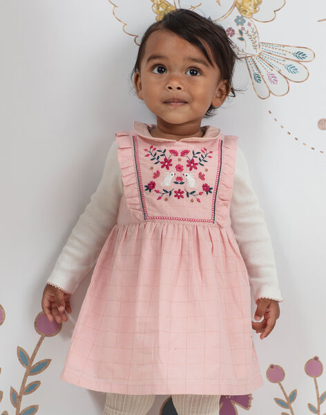 Baby girl pink embroidered sleeveless dress BAGILLY / 21H1BF91CHSD329